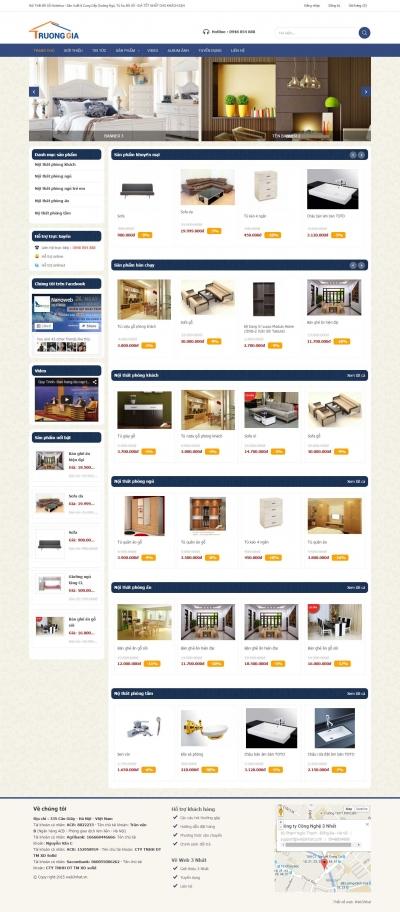 Web bán nội thất xanh