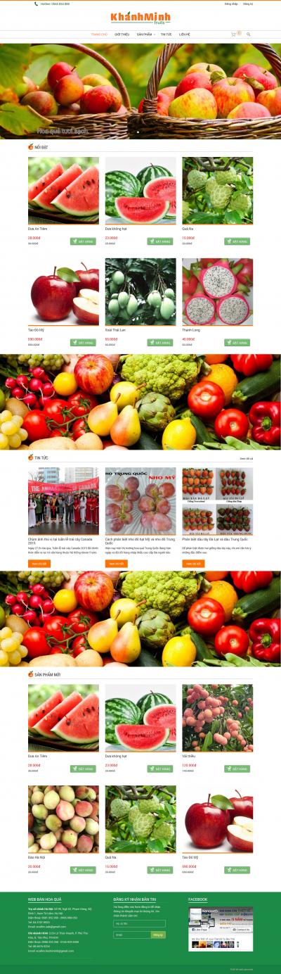 web bán hoa quả